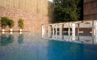 The swimming pool at Raas hotel