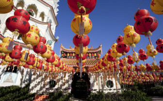 Red and Yellow Lanterns in Georgetown - Penang