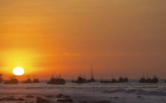 Sunset on a Peruvian Beach
