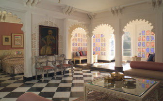 Grand suite at Taj Lake Palace hotel
