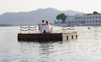 Private Dining at Taj Lake Palace hotel