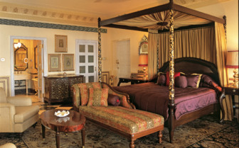 Suite at Taj Lake Palace, luxury hotel in India
