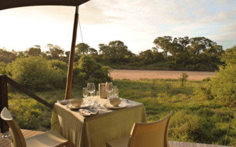 Drinks with a view, Ngala Tented Camp