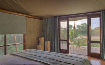 View from the Tents at Ngala Tented Camp