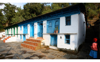 The exterior at Kumaon Village Houses, luxury hotel in India