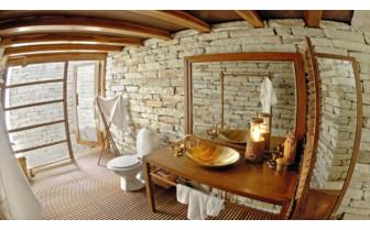 Interior bathroom design at the hotel