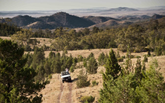 Jeep in Flinders Ranges, South Australia