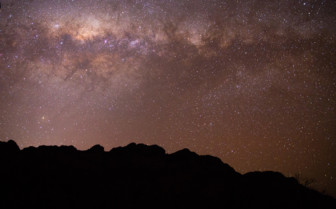 Stars in the night sky in Flinders Ranges, Australia