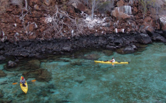 Kayaking in the Pacific Ocean, Santa Cruz Island