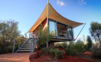 Longitude 131 tent exterior