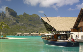 Arriving to Four Seasons Resort by boat