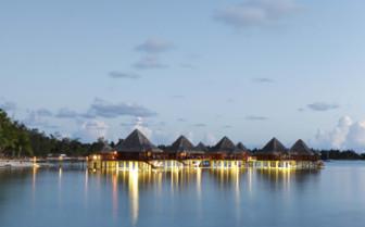 Over water bungalows at Kia Ora