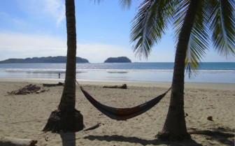 Hammock on beach in Guanacaste province