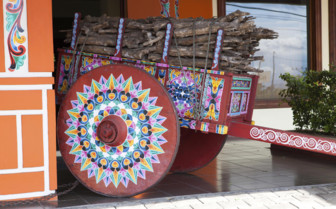 Central America painted cart
