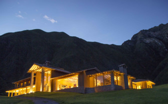 Evening view of Inkaterra in the Sacred Valley