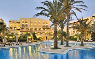 Evening pool view, Gozo
