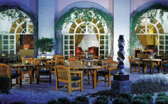 Dining terrace at the hotel