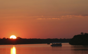 Sunset over Zambezi river