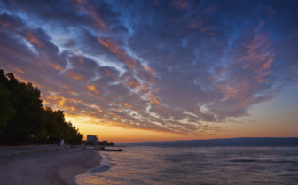 Sunset skies in Dalmatia