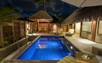 Garden Pool Suite night view