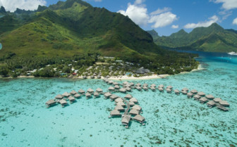 Aerial view of the Hilton Moorea
