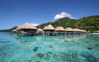 Over water bungalows at Sofitel Moorea