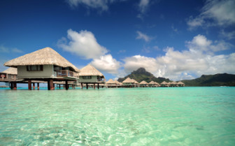 Over water bungalows Bora Bora