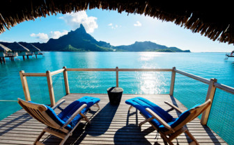Premium over water bungalow balcony
