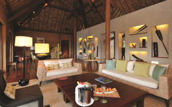 Beach front villa interior