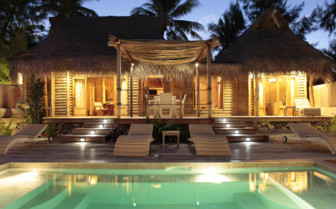 Beach Villa with pool at Tikehau Resort