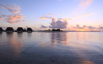 Sunset at Tikehau Pearl Beach Resort