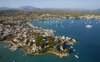 Porto Heli, Greece from the air