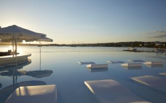 Nikki Beach pool and loungers