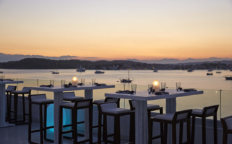Pearl rooftop dining and harbour view