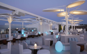 Pearl rooftop at night