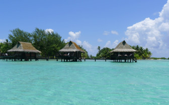 Three over water bungalows