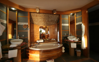 Over water bungalow bathroom