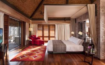 Over water villa bedroom