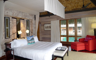 Premier over water oceanfront bedroom