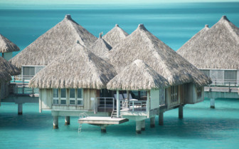 Over water bungalows exteriors