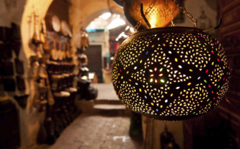 Lantern close up in Marrakech
