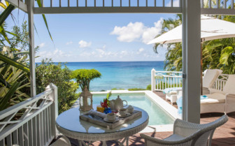 Breakfast with a view in the Caribbean