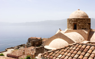 Monemvasia castle domes and roofs