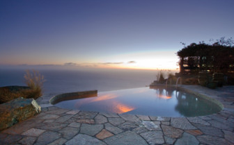 Infinity pool at Post Ranch Inn, luxury hotel in the Big Sur
