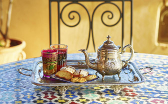 Moroccan tea and sweets