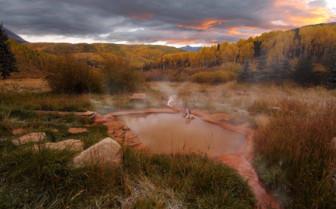 Bathhouse outdoor hot springs