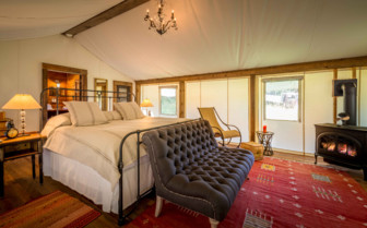 Christys tent bedroom at Dunton Hot Springs