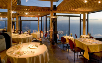 Restaurant at Post Ranch Inn, luxury hotel in the Big Sur