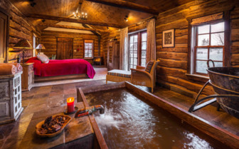 Well House interior and hot spring