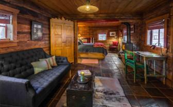 Bjorkman's cabin interior overview